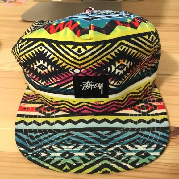 516164683ff Stussy neon SnapBack hat. M 5c2c66adf63eea7f1e63a1e9
